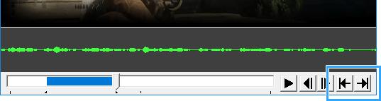 矢印アイコンでエンコード範囲を決める