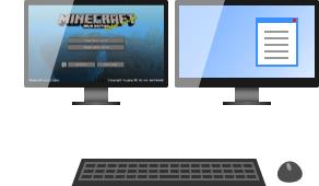 ゲーム画面用のモニター