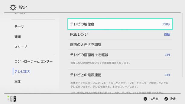 Switch解像度