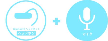 Bluetoothヘッドセット + 別マイク