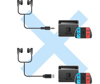 Switch、ヘッドホンの取り外し